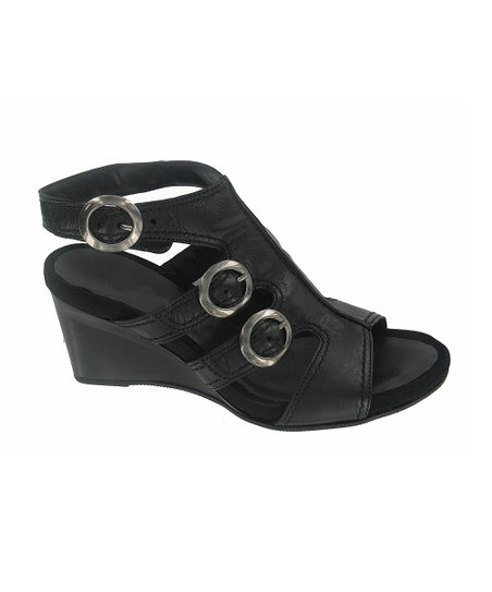 Black Tucson Wedge Sandal - Women