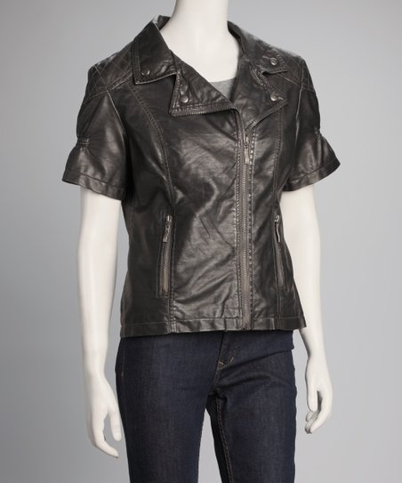 Silver Short-Sleeve Jacket