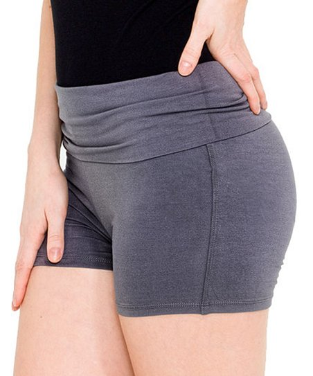 Charcoal Unstoppable Fold-Over Yoga Shorts