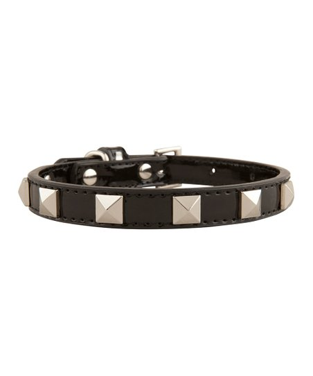 LazyBonezz Black Stud Dog Collar