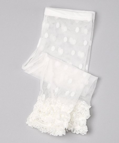 White Ruffle Lace Leggings - Infant & Toddler
