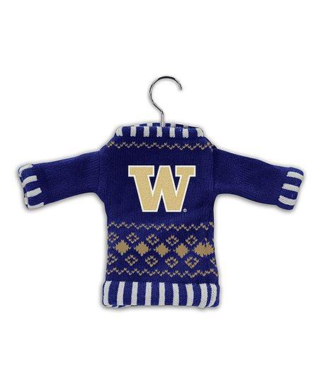 Washington Huskies Knit Sweater Ornament