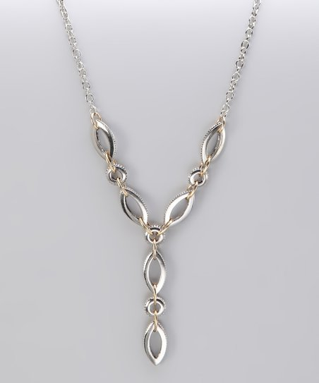 Silver & Gold Two-Tone Mixed Link Necklace