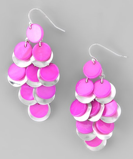 Pink Shell Chandelier Earrings
