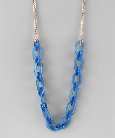 Blue Link Necklace
