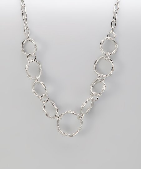 Silver Twisted Ring Necklace