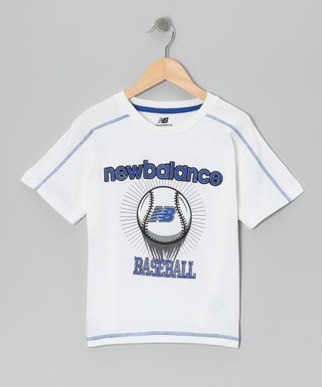 White 'Baseball' Tee - Boys