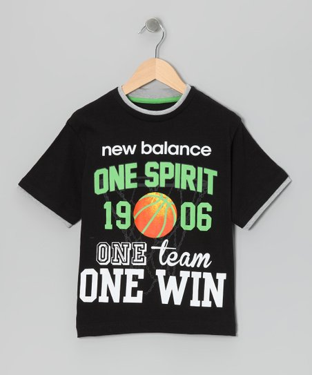 Black 'One Spirit' Tee - Boys