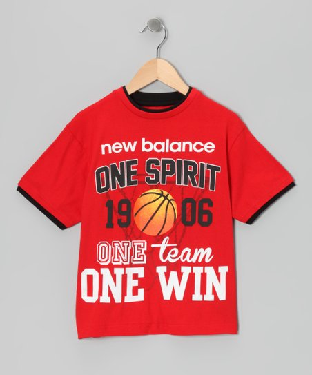 Red 'One Spirit' Tee - Boys