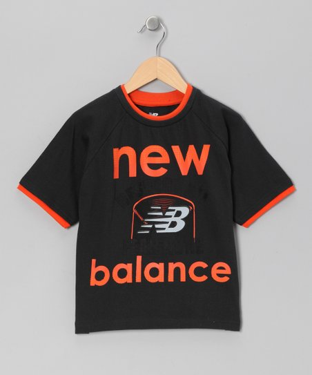 Black & Orange 'New Balance' Tee - Boys