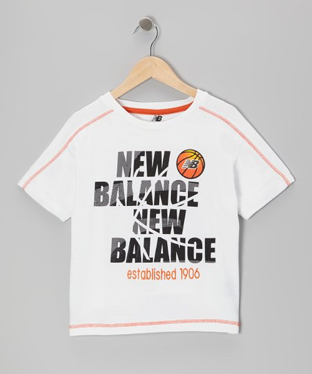 White 'New Balance New Balance' Tee - Boys