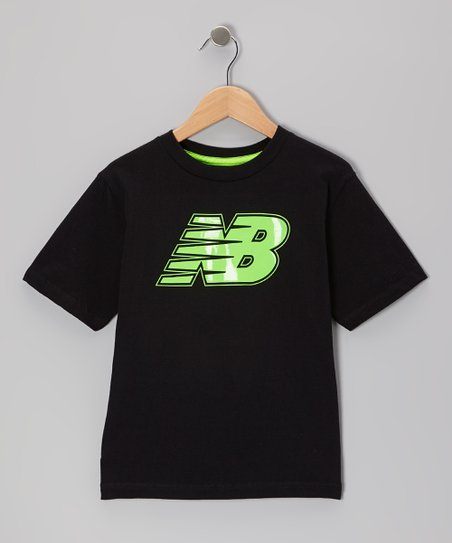 Black 'NB' Logo Tee - Boys