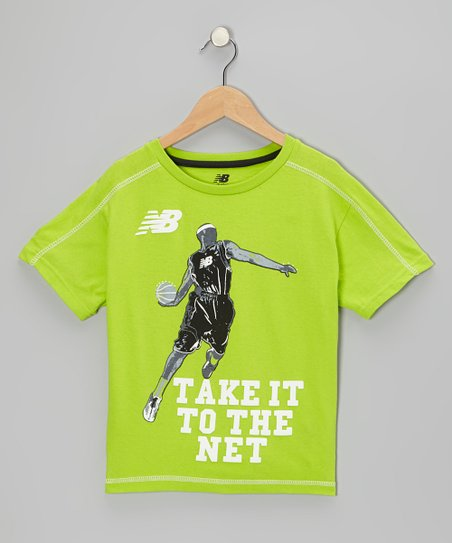 Lime 'Take It to the Net' Tee - Boys