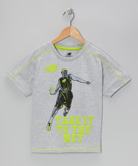 Lime & Gray 'Take It to the Net' Tee - Boys