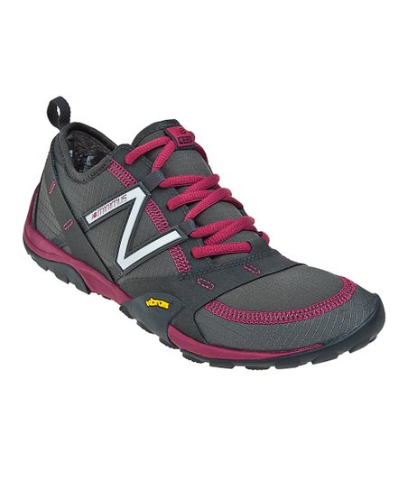 Gray & Burgundy WO10 Trail Running Shoe