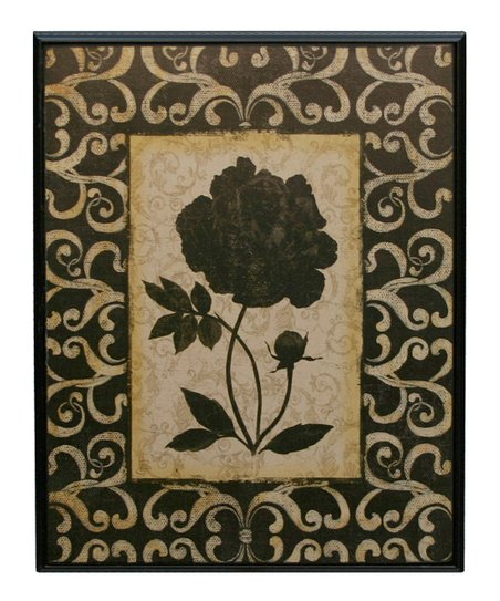 Black & White Floral Leaf Wall Art