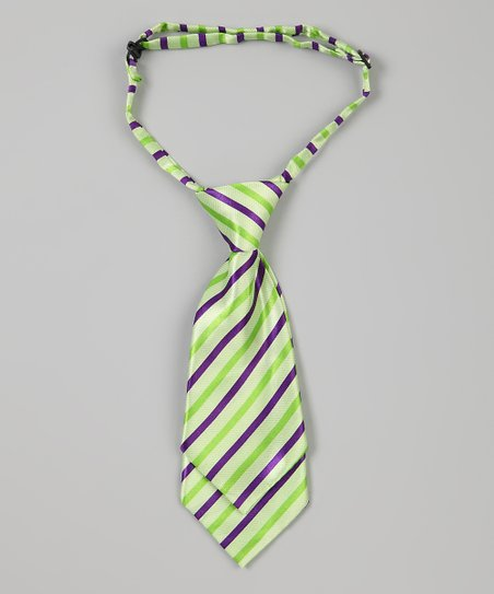 Green Stripe Adjustable Tie