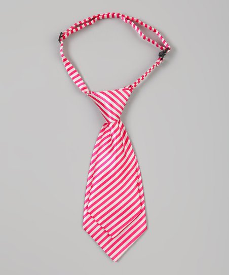 Pink & White Stripe Adjustable Tie