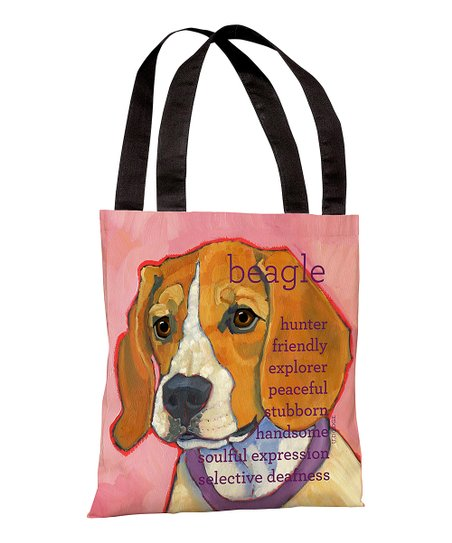 Pink Beagle Tote