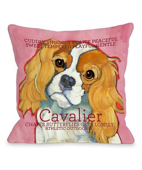 Pink Cavalier Throw Pillow