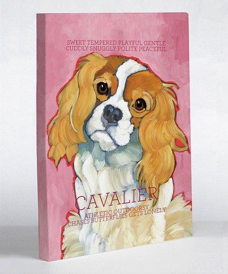 Fuchsia Cavalier Canvas Art