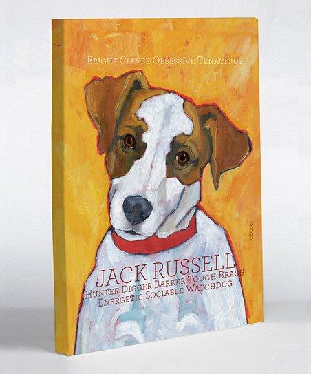Orange Jack Russell Canvas Art