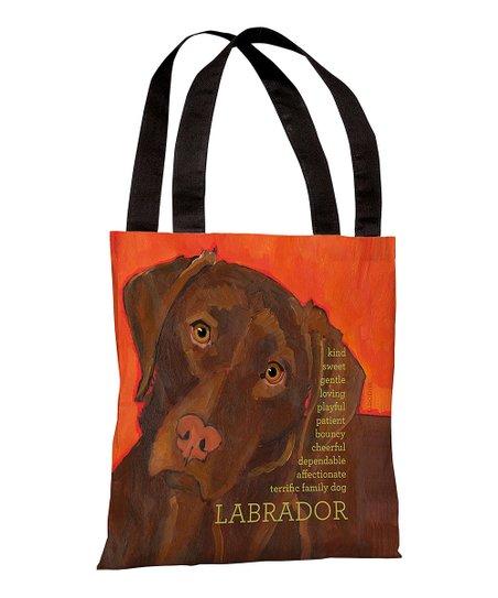 Orange Chocolate 'Labrador' Tote