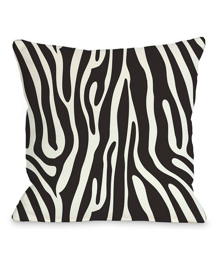 Black &amp; White Raffi Zebra Pillow