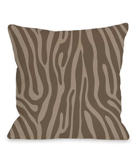 Coffee & Nougat Raffi Zebra Pillow