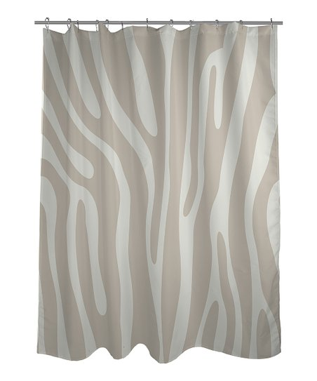 Ivory &amp; Oatmeal Zebra Shower Curtain