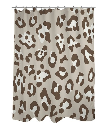 Oatmeal & Nougat Leopard Shower Curtain