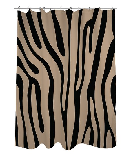 Black & Tan Zebra Shower Curtain
