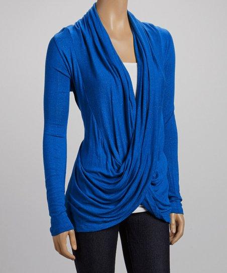 Royal Blue Drape Top
