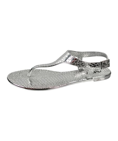 Silver Scale Sandal