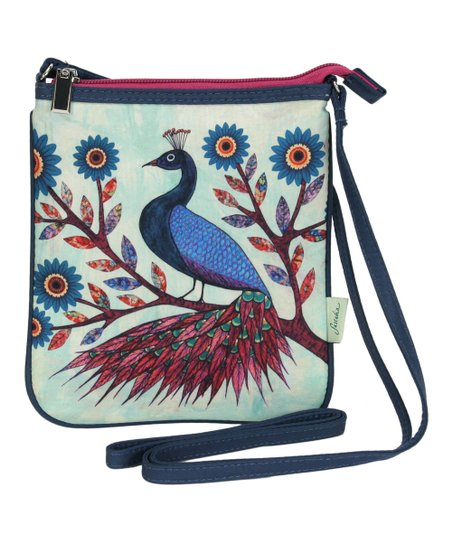 Blue Peacock Crossbody Bag
