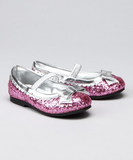 Fuchsia Sequin Flat