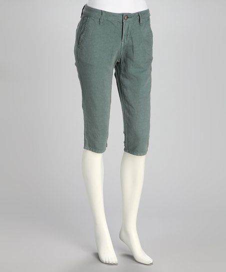 Blue Steel Linen-Blend Bermuda Shorts