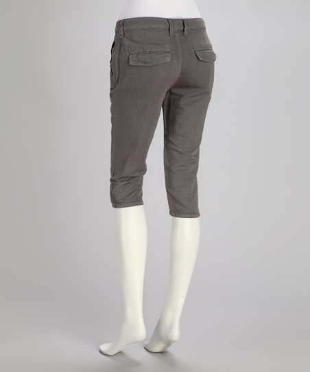 Gray Dusk Linen-Blend Bermuda Shorts