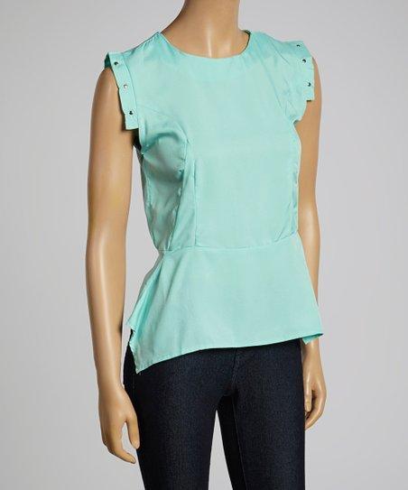 Mint Stud Sleeve Top – Women