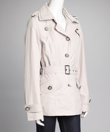 Beige Belted Jacket