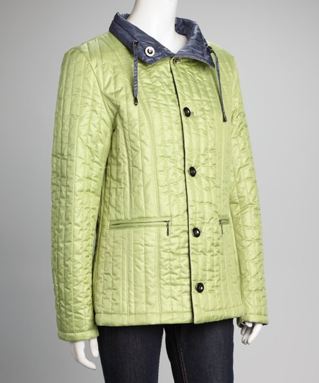 Navy & Lime Reversible Jacket