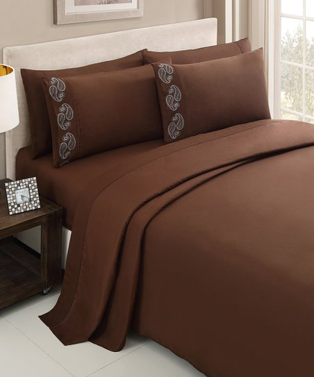 Chocolate Brighton Sheet Set