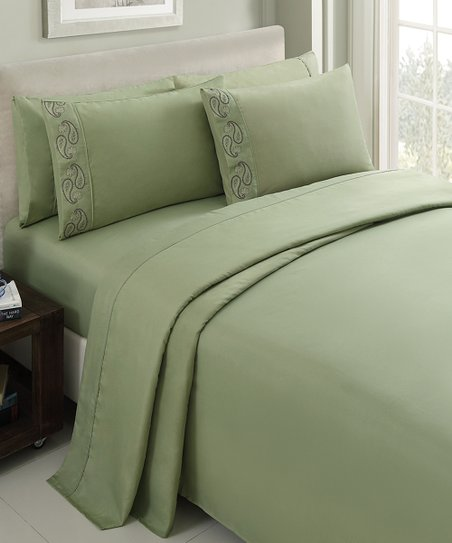 Green Brighton Sheet Set