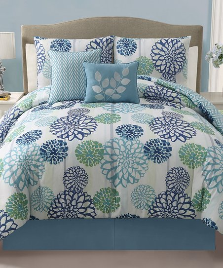 Blue Cameron Reversible Comforter Set