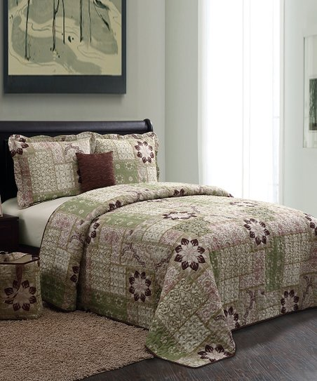 Green Catalina Quilt Set