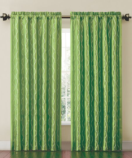 Lime Cassidy Curtain Panel