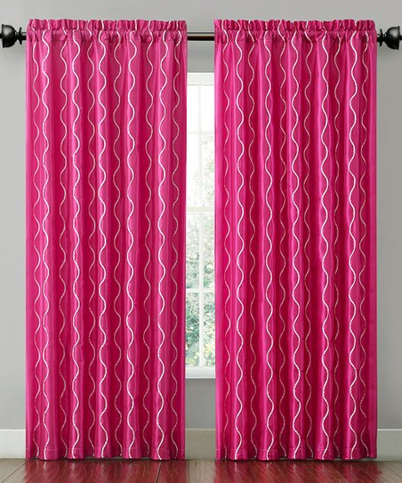 Pink Cassidy Curtain Panel