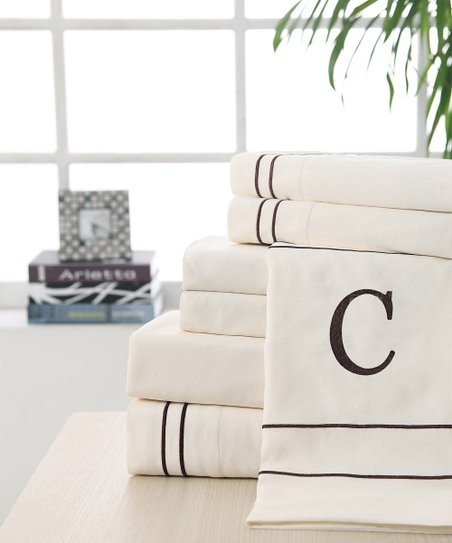 'C' Monogram Sheet Set