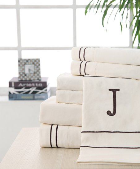'J' Monogram Sheet Set