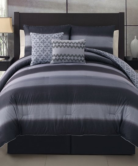 Black & Gary Mapletown Comforter Set